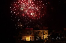 Fireworks over Downhal Hotel