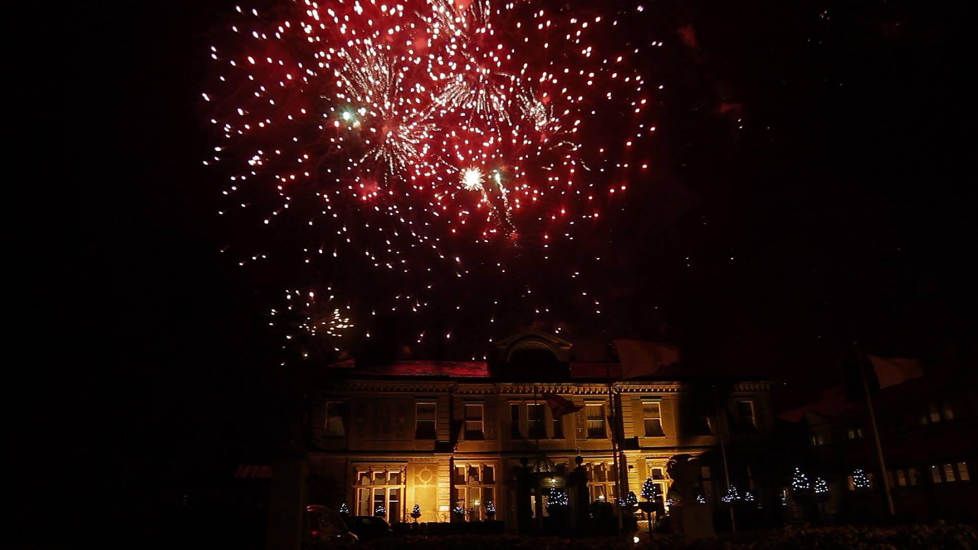 Fireworks over Downhal Hotel