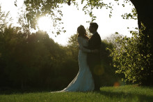 Bride and Groom at Sunset, chippenham, park