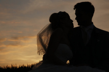 Tanya + Steven Wedding at sunset