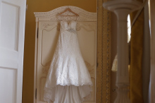 Wedding dress at Gosfield Hall