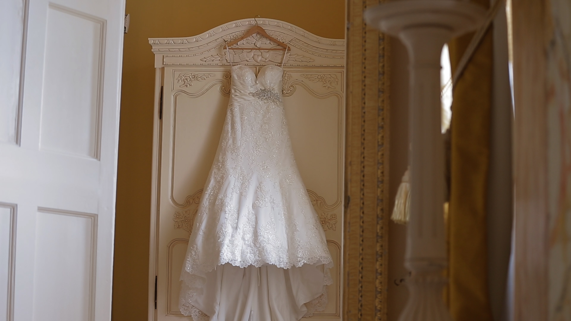 Wedding dress at Gosfield Hall