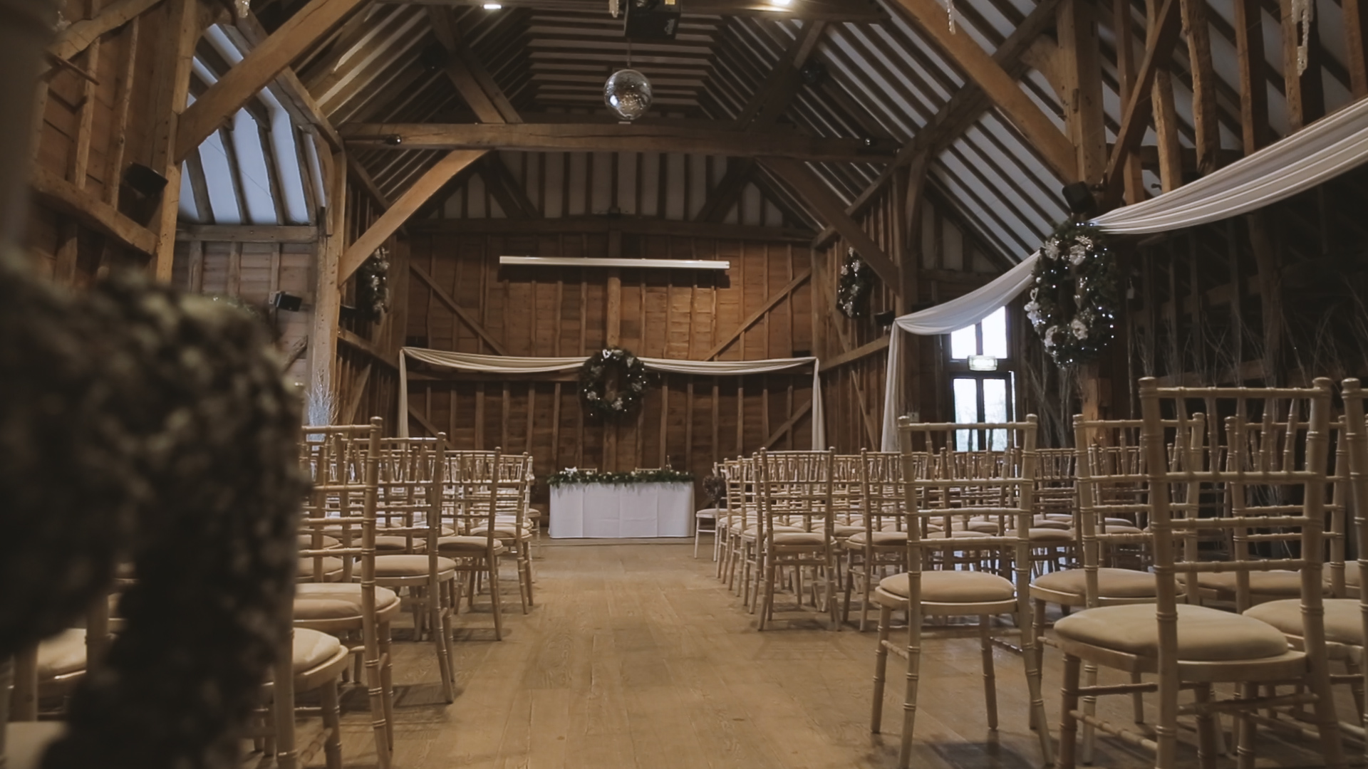 Tewin Bury farm wedding video
