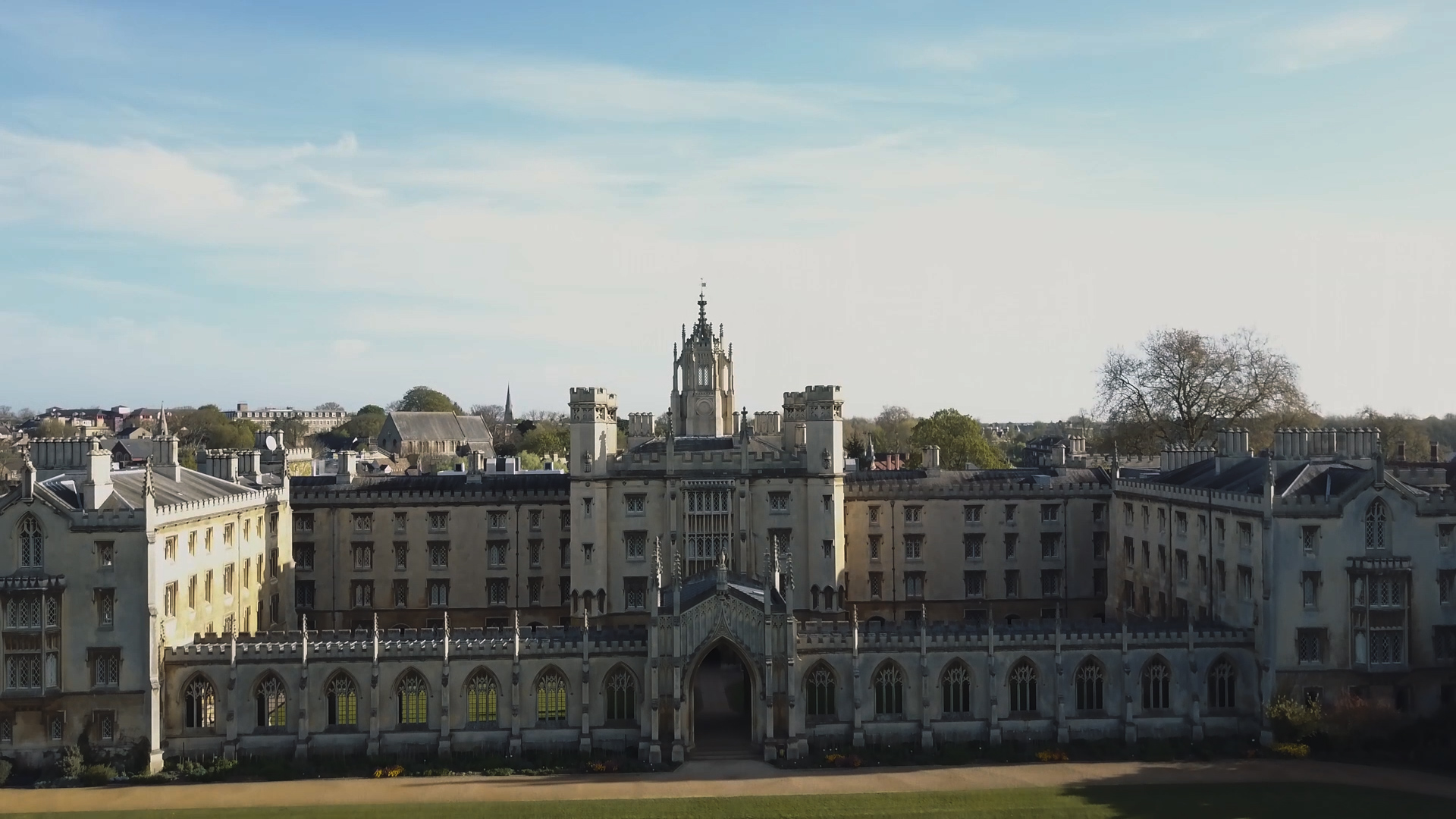 wedding video from St. John's college Cambridge